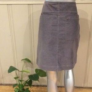 Athleta Corduroy Skirt with Zipped Pockets